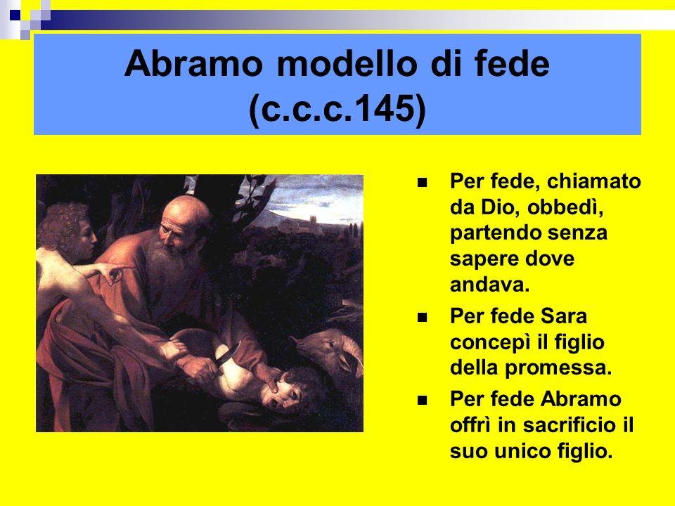 Abramo modello di fede (c.c.c.145)