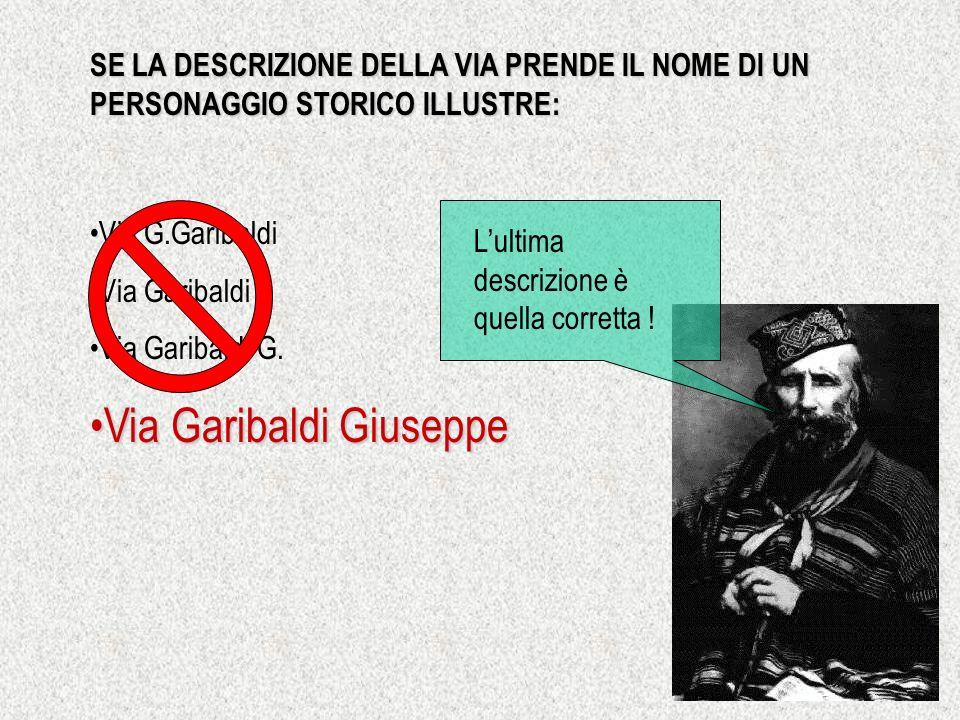 Via Garibaldi Giuseppe