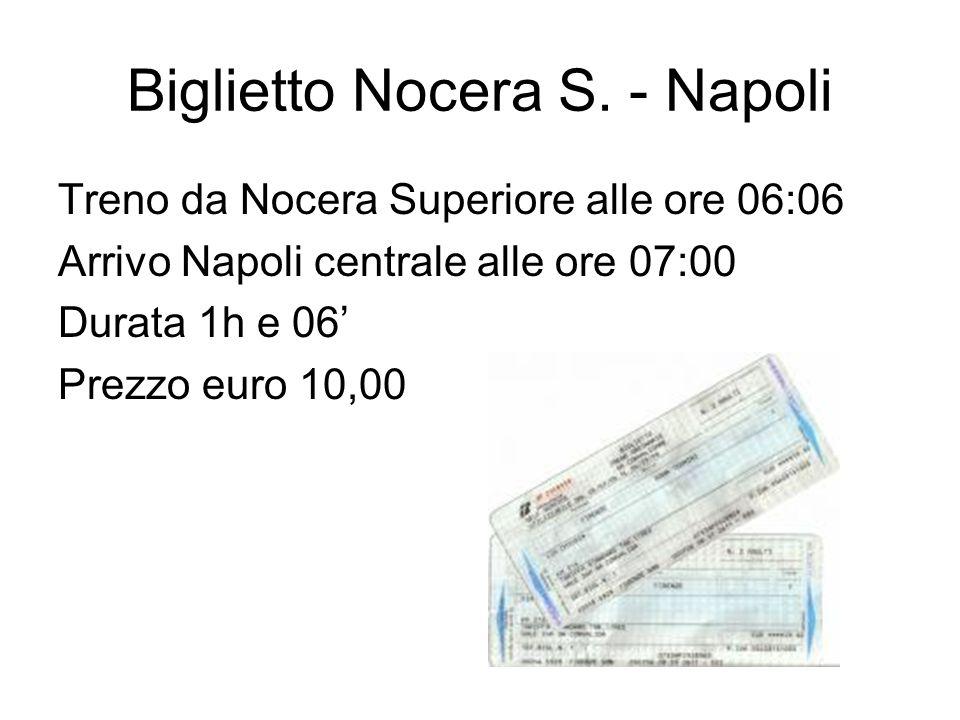 Biglietto Nocera S. - Napoli