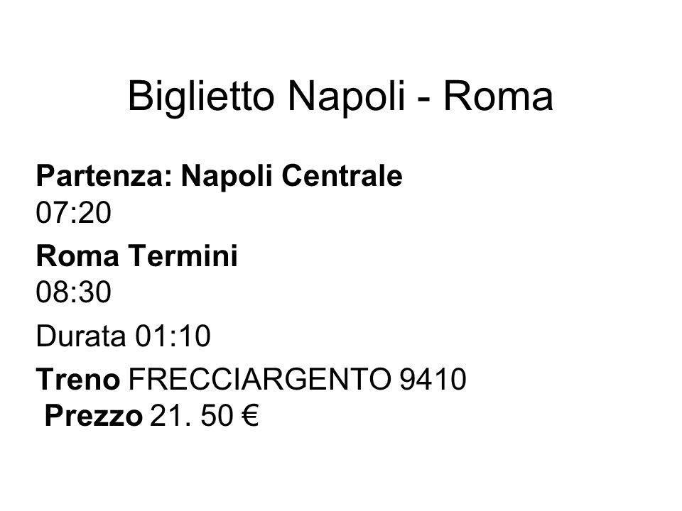 Biglietto Napoli - Roma