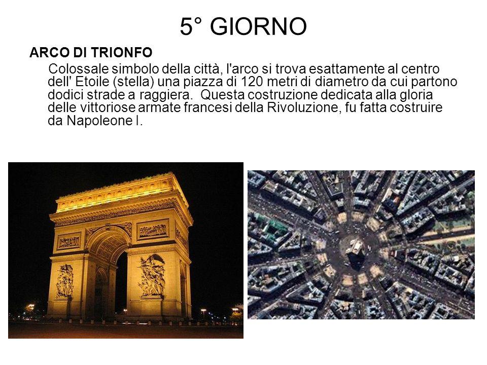 5° GIORNO ARCO DI TRIONFO