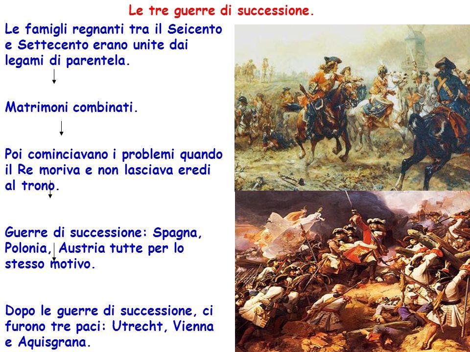 Le tre guerre di successione.