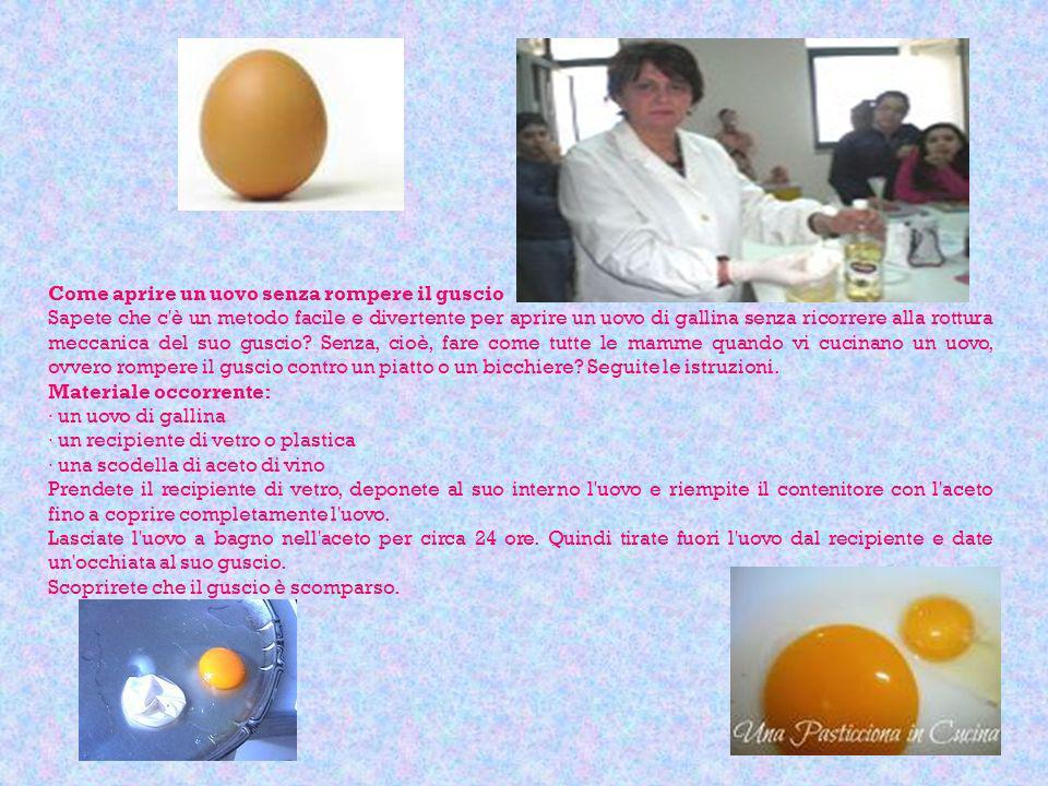 Come aprire un uovo senza rompere il guscio
