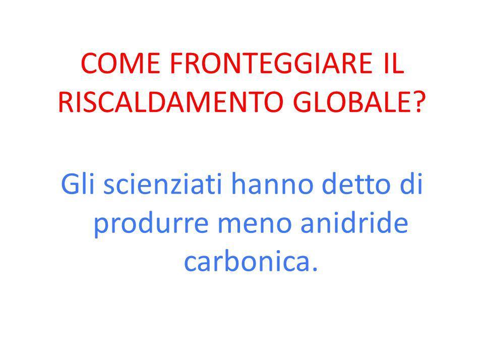 COME FRONTEGGIARE IL RISCALDAMENTO GLOBALE