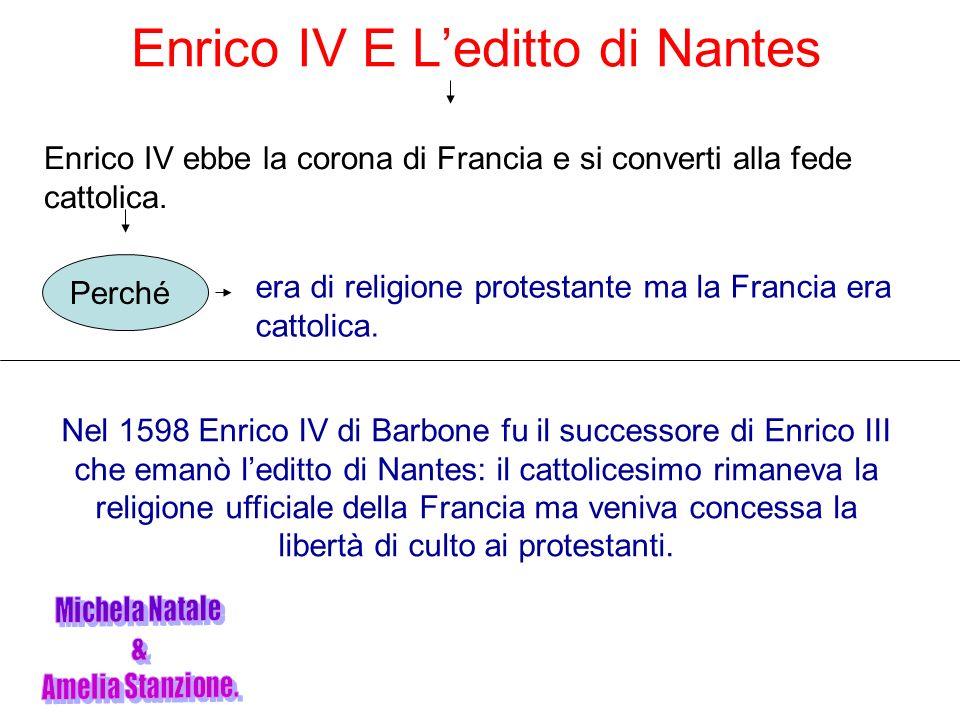 Enrico IV E L'editto di Nantes