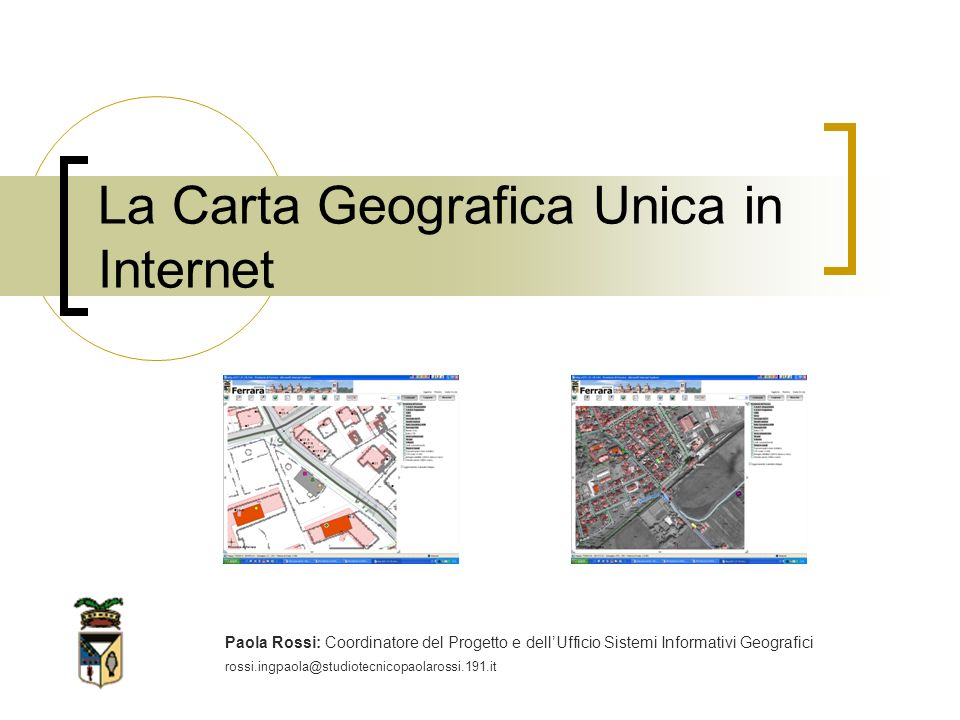 La Carta Geografica Unica in Internet