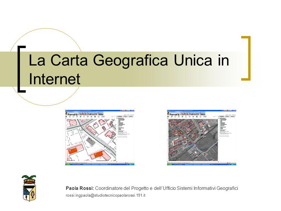 La Carta Geografica Unica in Internet