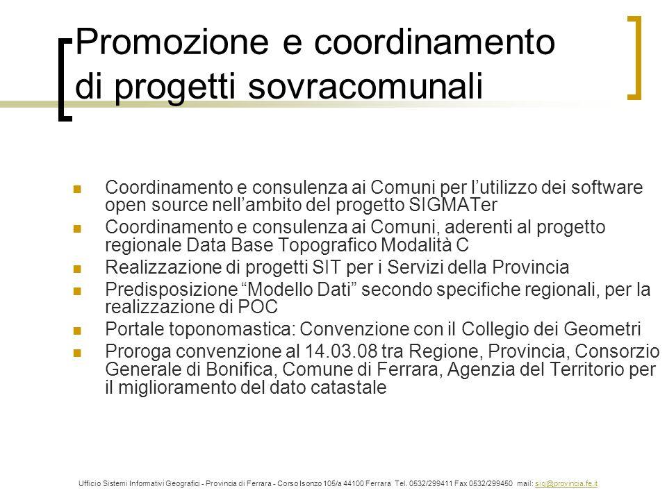 Promozione e coordinamento di progetti sovracomunali