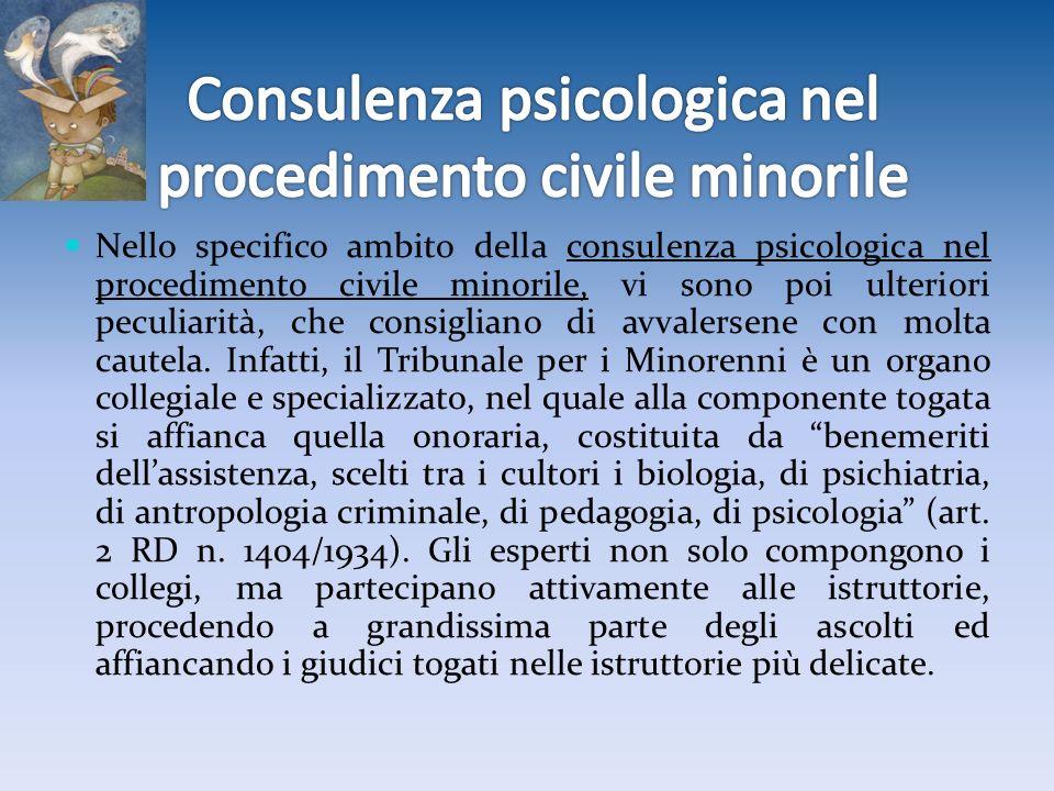 Consulenza psicologica nel procedimento civile minorile