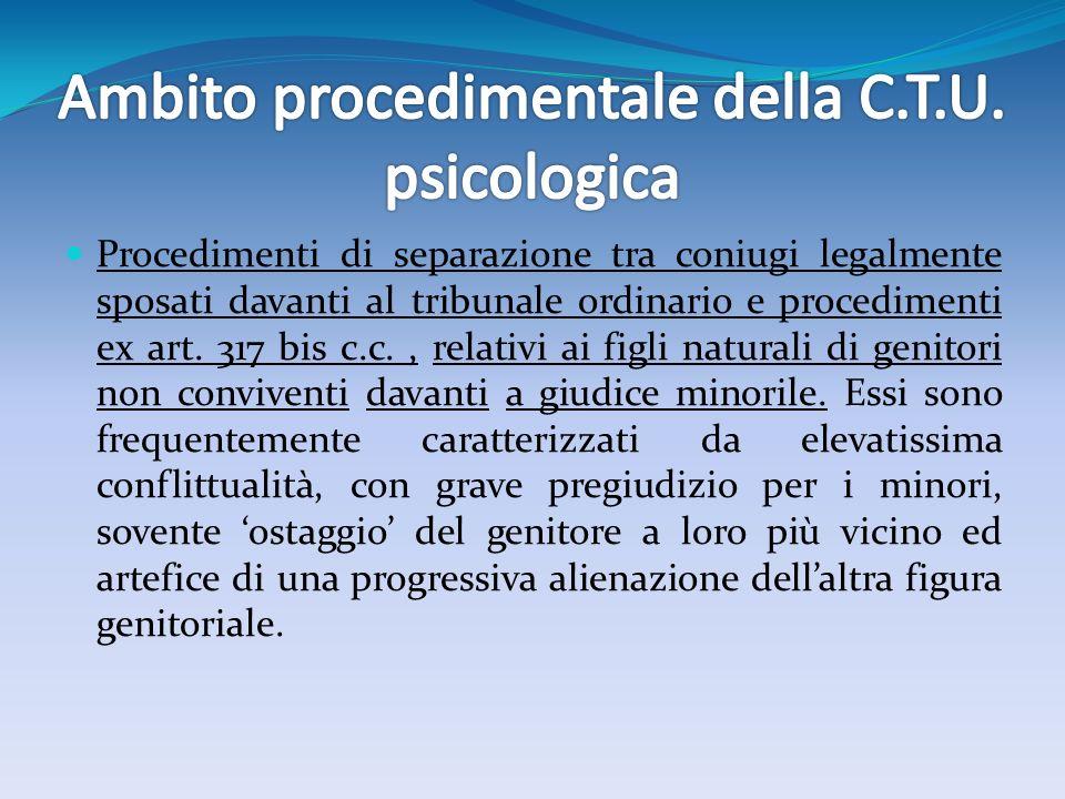 Ambito procedimentale della C.T.U. psicologica