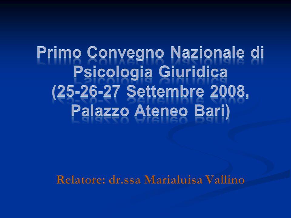 Relatore: dr.ssa Marialuisa Vallino