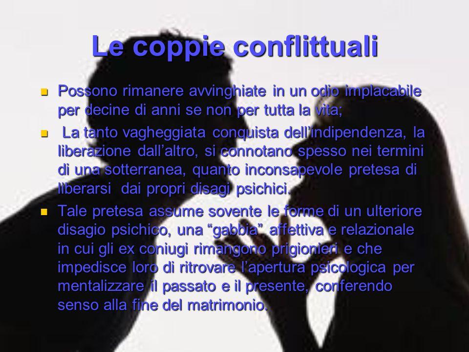 Le coppie conflittuali