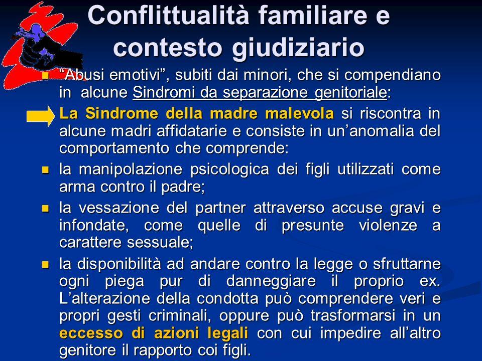 Conflittualità familiare e contesto giudiziario