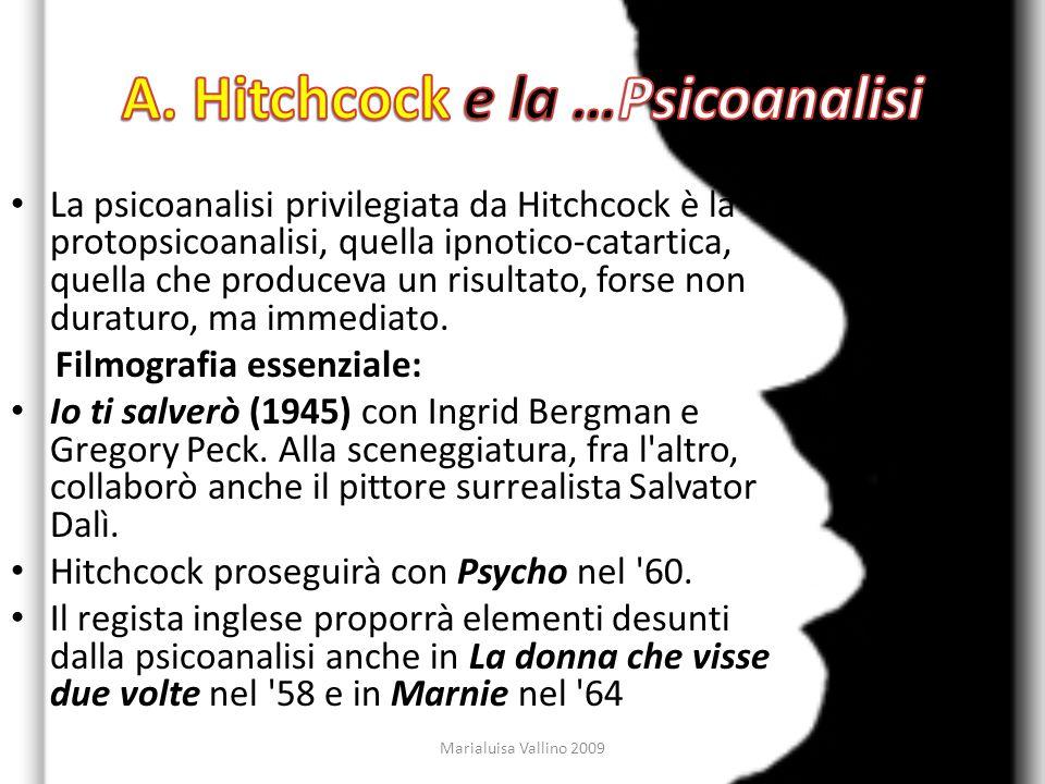 A. Hitchcock e la …Psicoanalisi