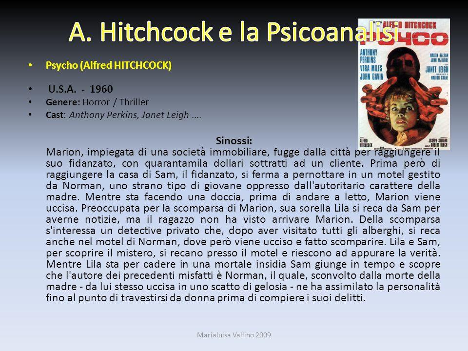 A. Hitchcock e la Psicoanalisi