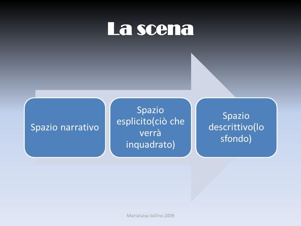 La scena Marialuisa Vallino 2009 Spazio narrativo