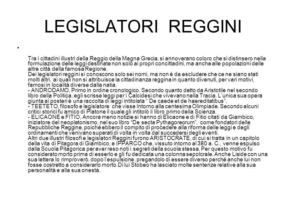 LEGISLATORI REGGINI