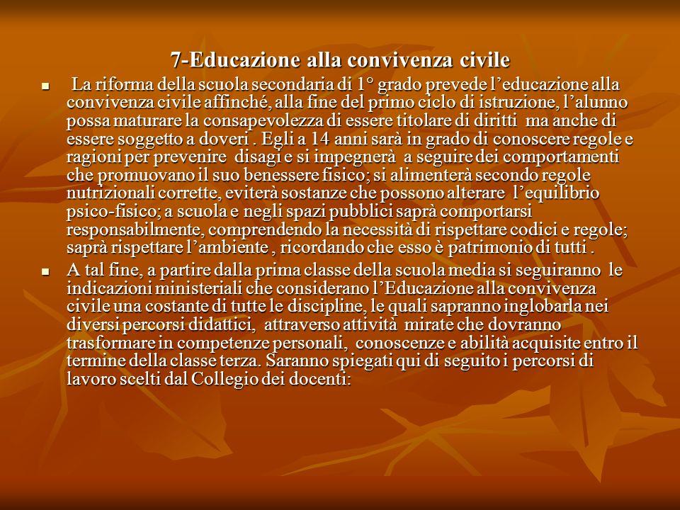 7-Educazione alla convivenza civile