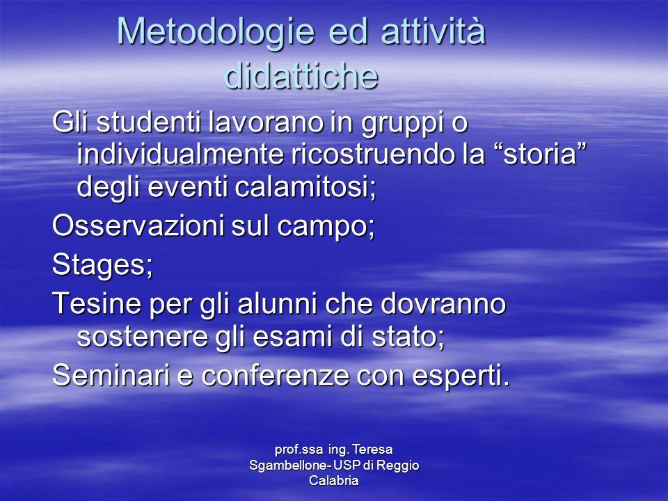 Metodologie ed attività didattiche