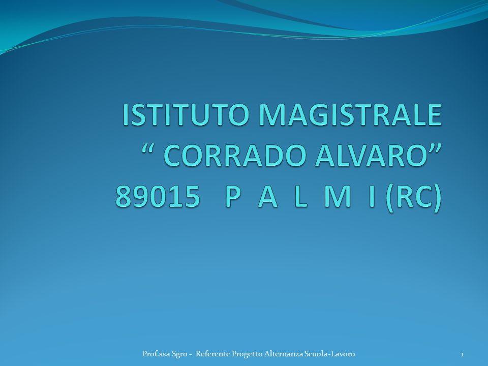 ISTITUTO MAGISTRALE CORRADO ALVARO 89015 P A L M I (RC)