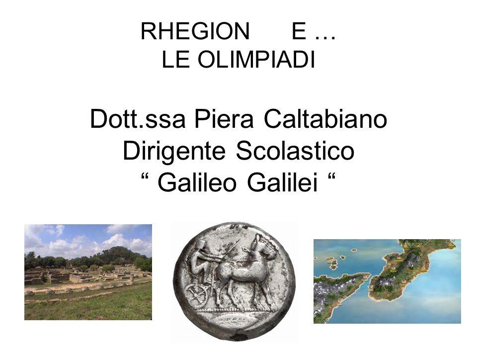RHEGION E … LE OLIMPIADI Dott