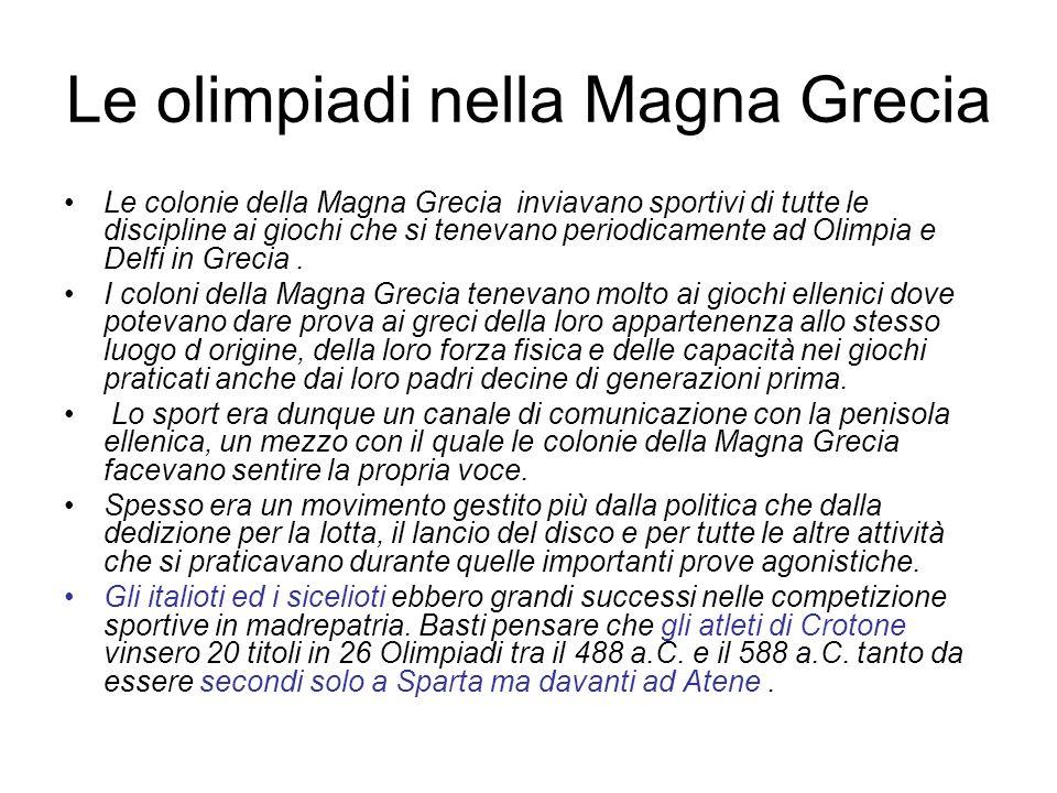 Le olimpiadi nella Magna Grecia