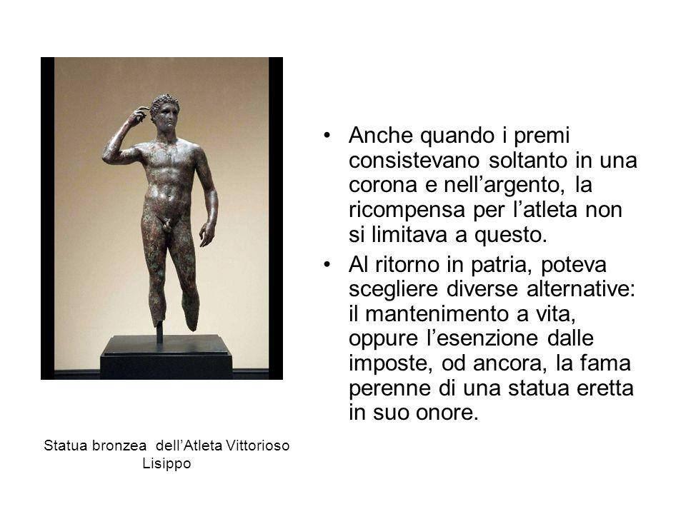 Statua bronzea dell'Atleta Vittorioso Lisippo