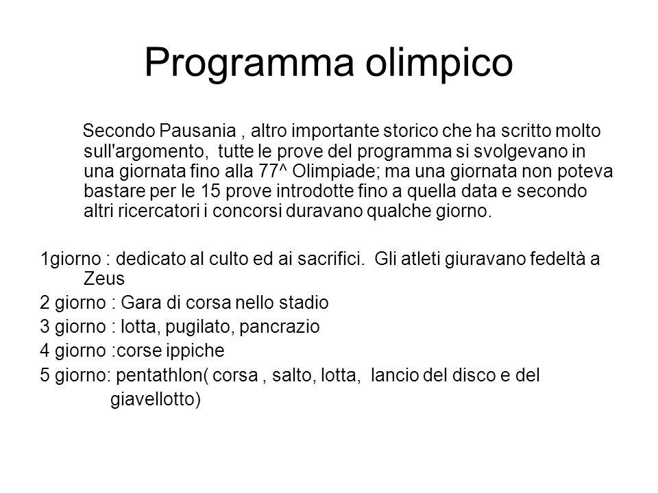 Programma olimpico