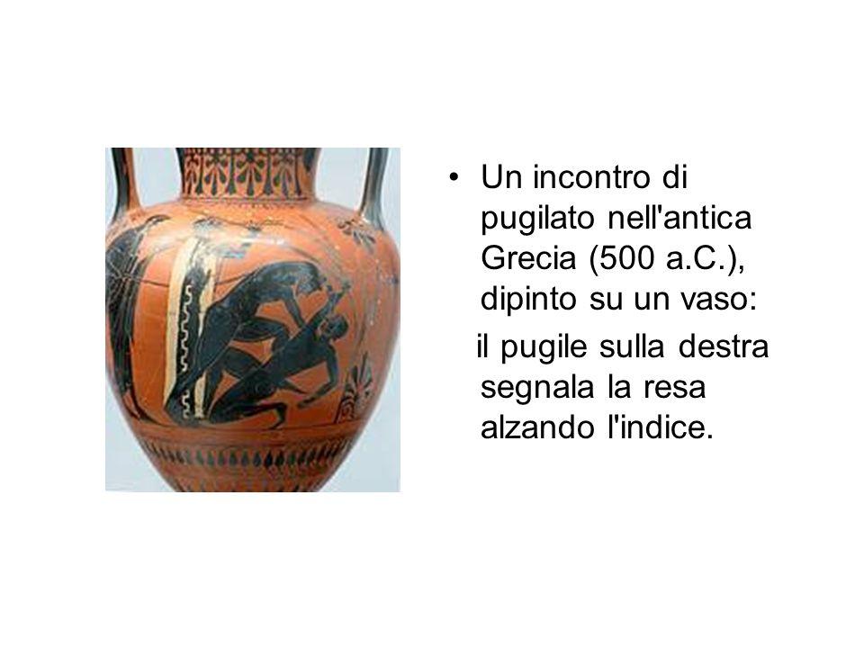 Un incontro di pugilato nell antica Grecia (500 a. C