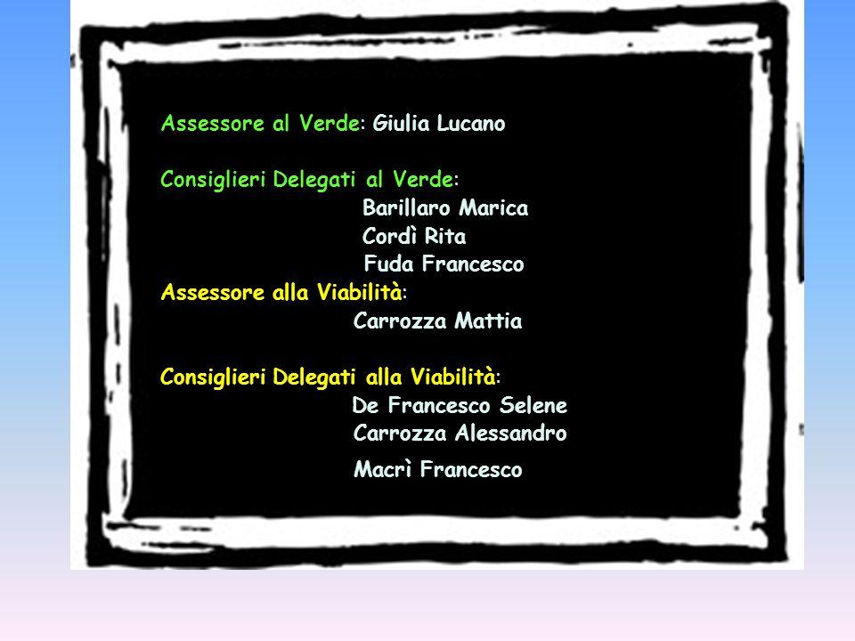 Assessore al Verde: Giulia Lucano