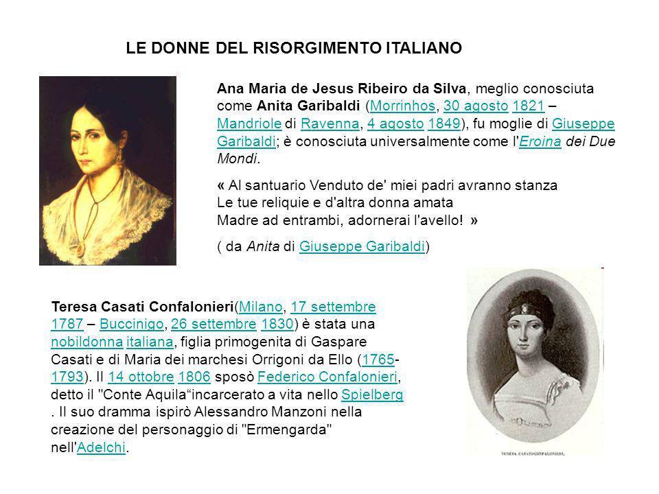 LE DONNE DEL RISORGIMENTO ITALIANO