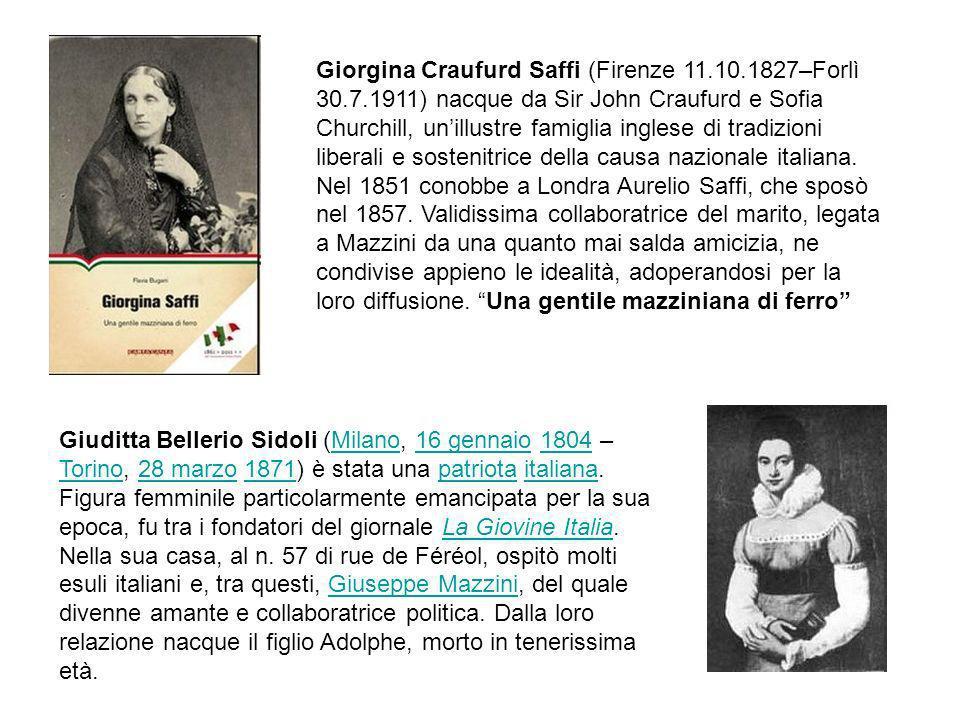 Giorgina Craufurd Saffi (Firenze 11. 10. 1827–Forlì 30. 7