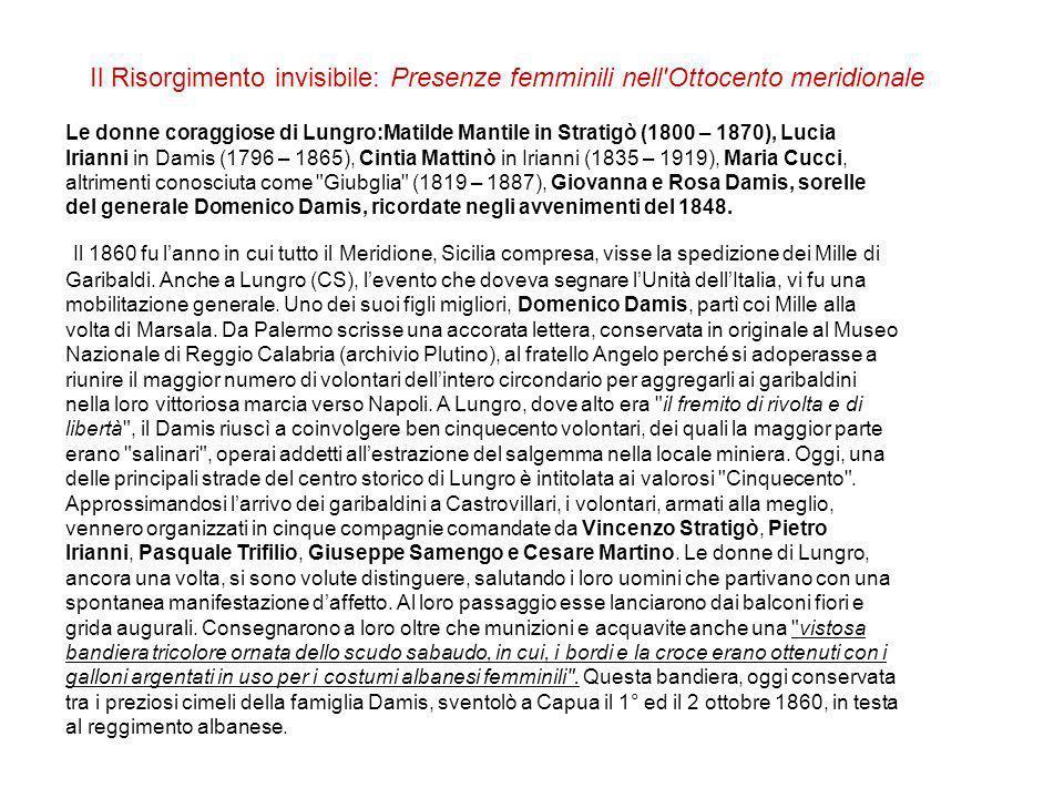 Il Risorgimento invisibile: Presenze femminili nell Ottocento meridionale