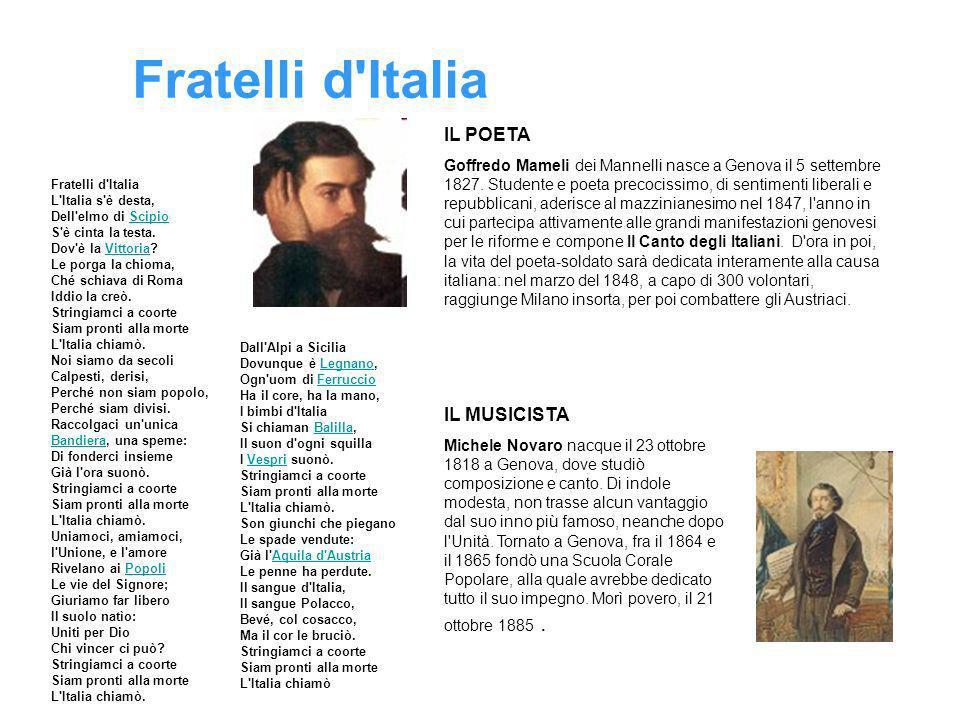 Fratelli d Italia IL POETA IL MUSICISTA