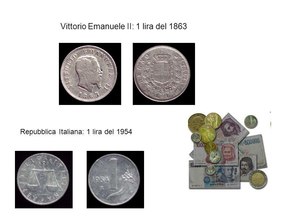 Vittorio Emanuele II: 1 lira del 1863