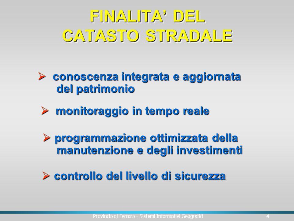 FINALITA' DEL CATASTO STRADALE