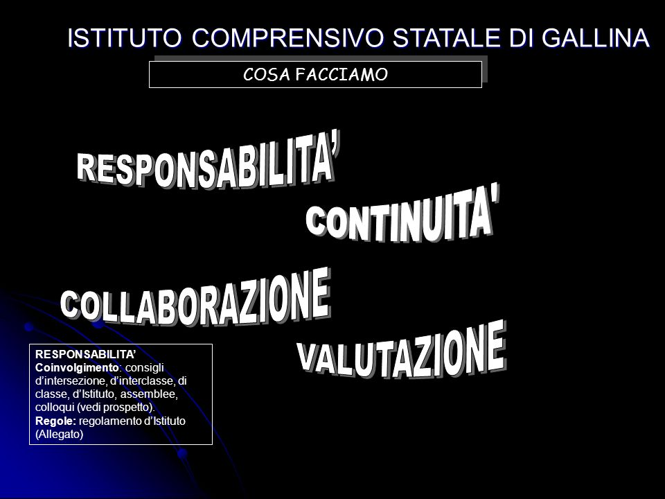 ISTITUTO COMPRENSIVO STATALE DI GALLINA