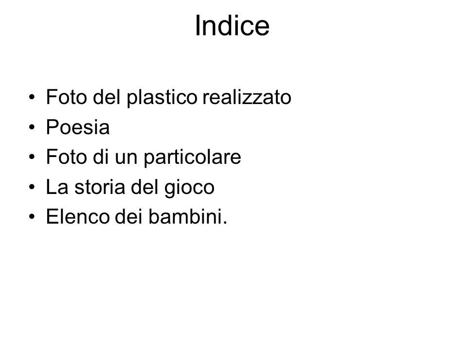 Indice Foto del plastico realizzato Poesia Foto di un particolare
