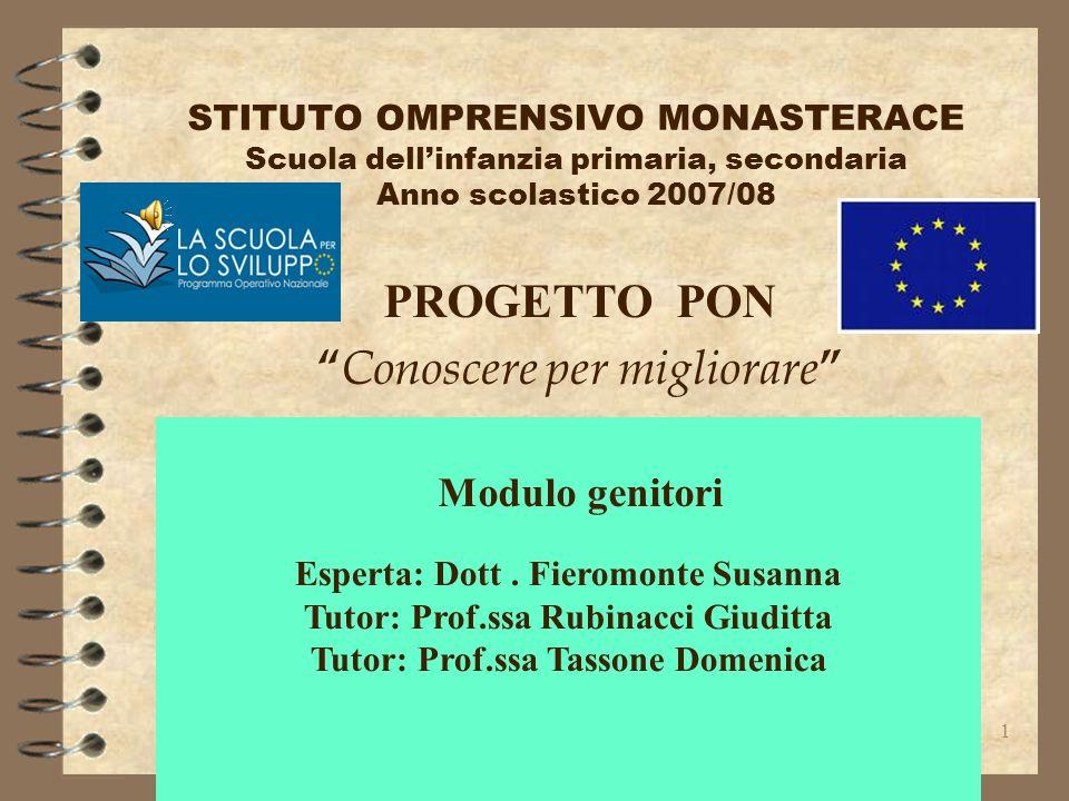 Esperta: Dott . Fieromonte Susanna Tutor: Prof.ssa Rubinacci Giuditta