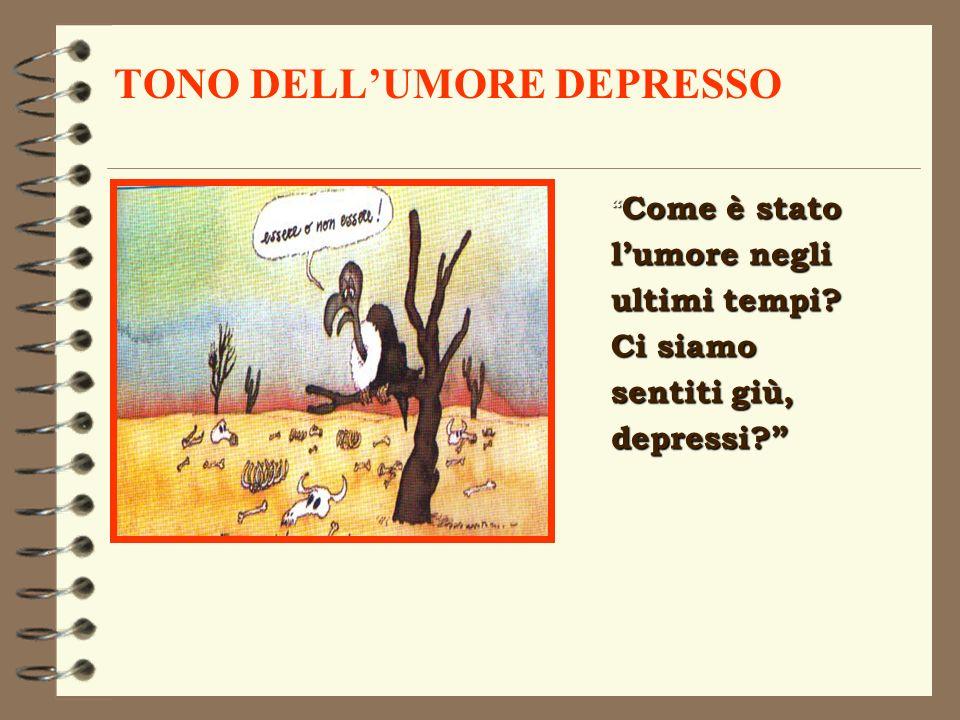 TONO DELL'UMORE DEPRESSO