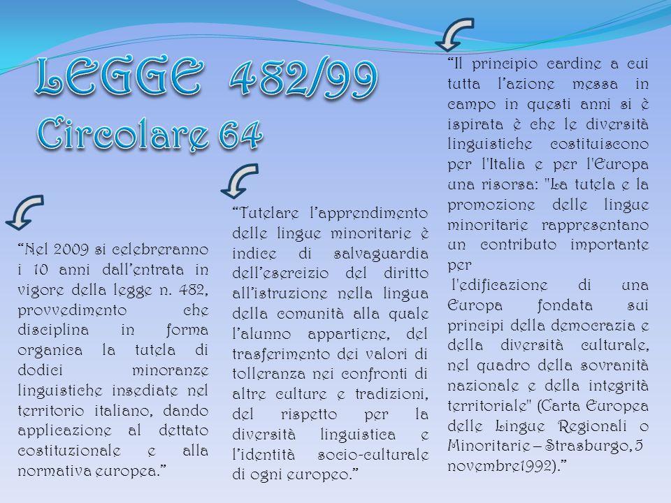 LEGGE 482/99