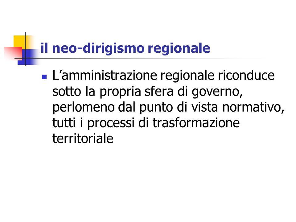 il neo-dirigismo regionale