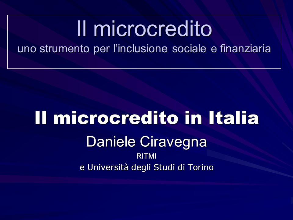 Il microcredito uno strumento per l'inclusione sociale e finanziaria