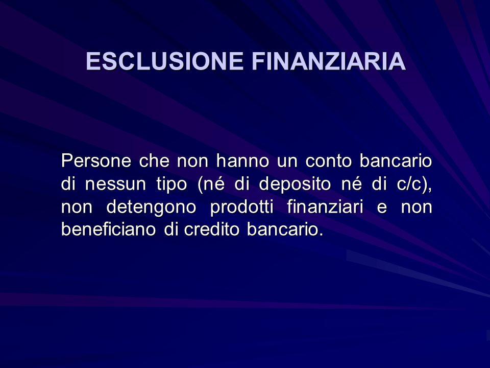 ESCLUSIONE FINANZIARIA