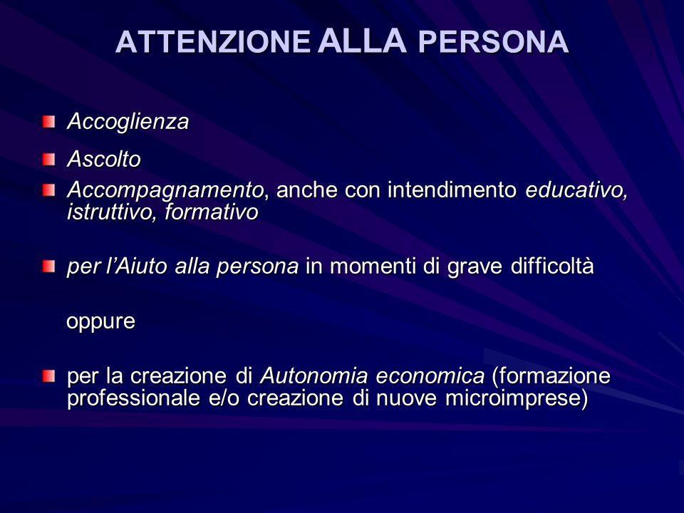 ATTENZIONE ALLA PERSONA