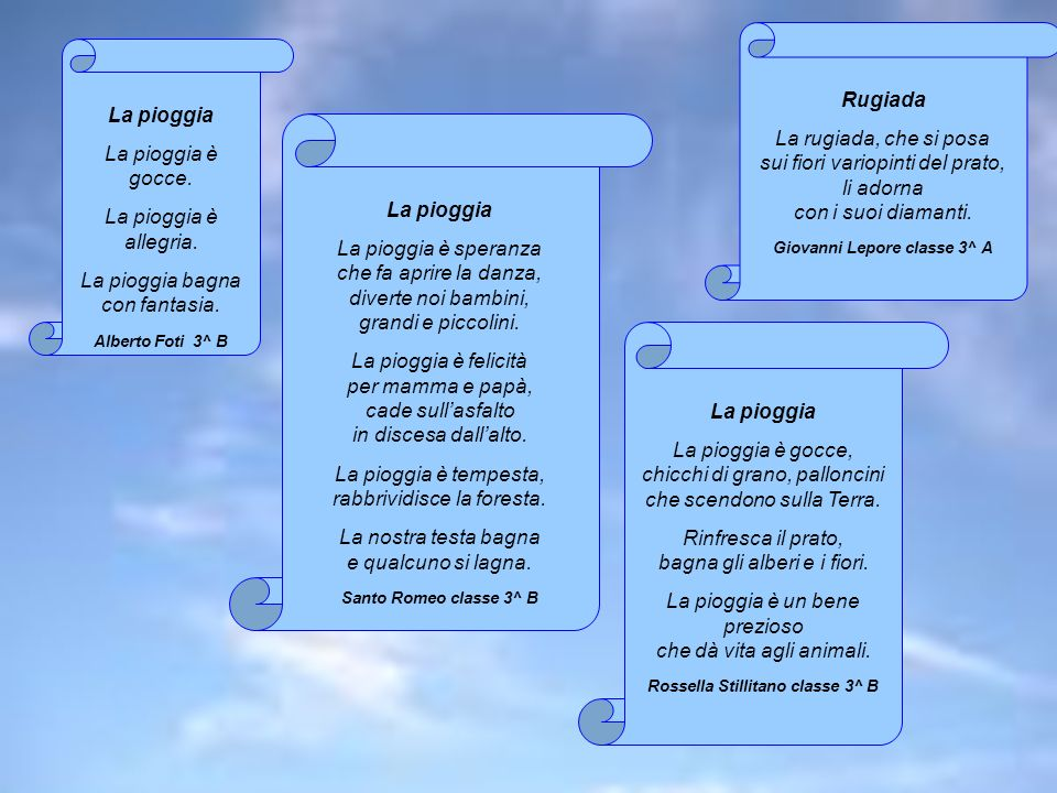 Giovanni Lepore classe 3^ A Rossella Stillitano classe 3^ B