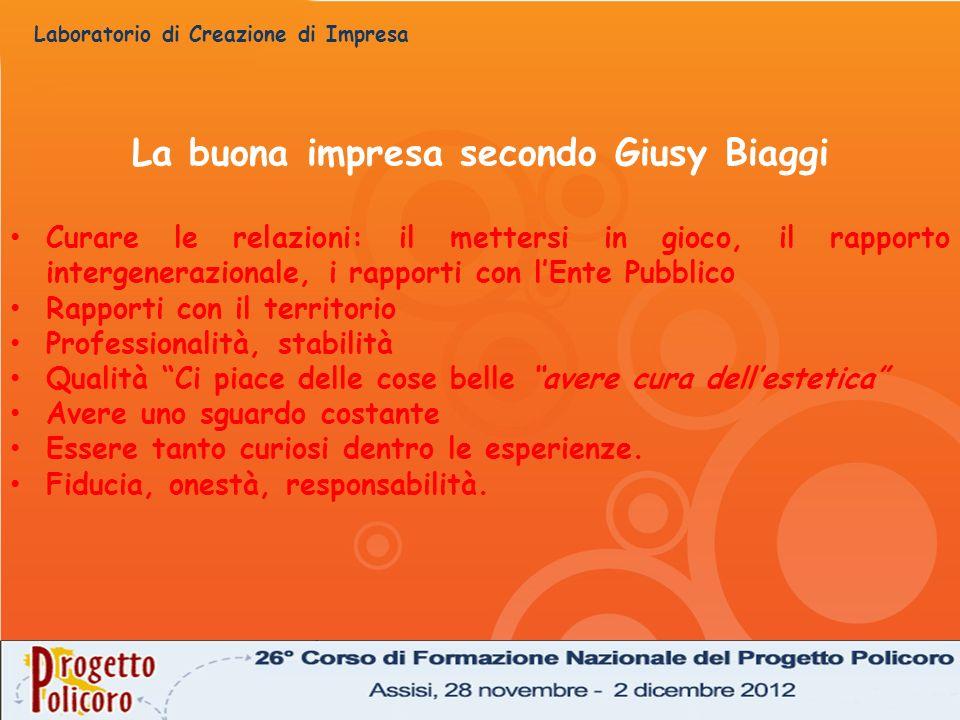 La buona impresa secondo Giusy Biaggi