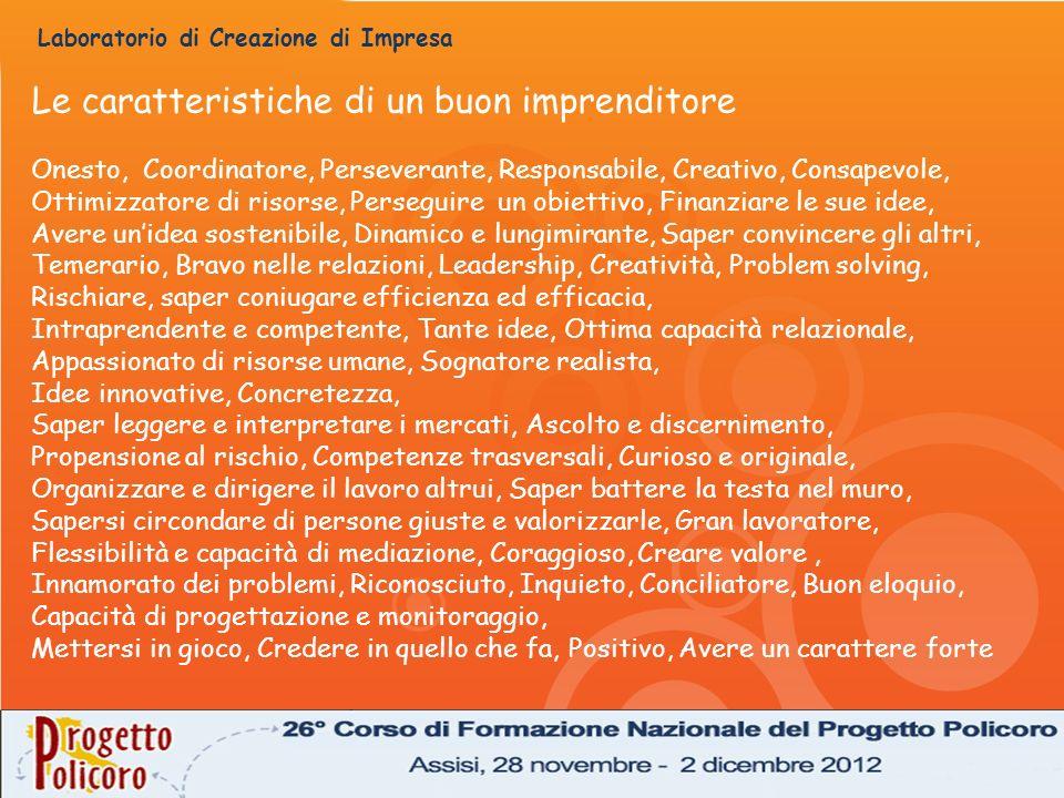 Le caratteristiche di un buon imprenditore