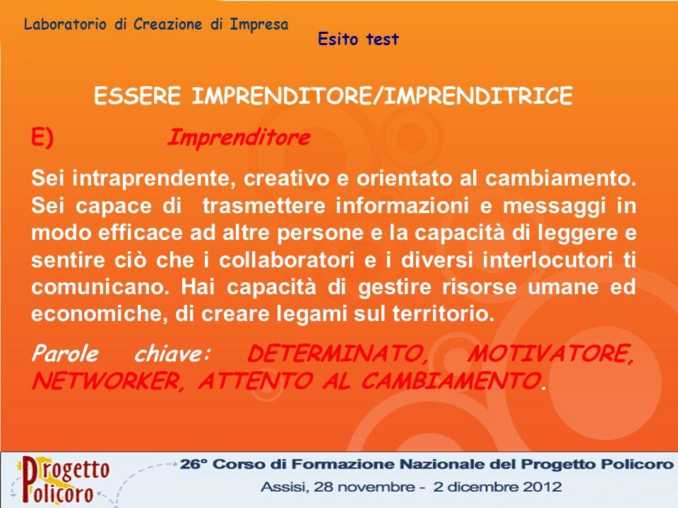 ESSERE IMPRENDITORE/IMPRENDITRICE