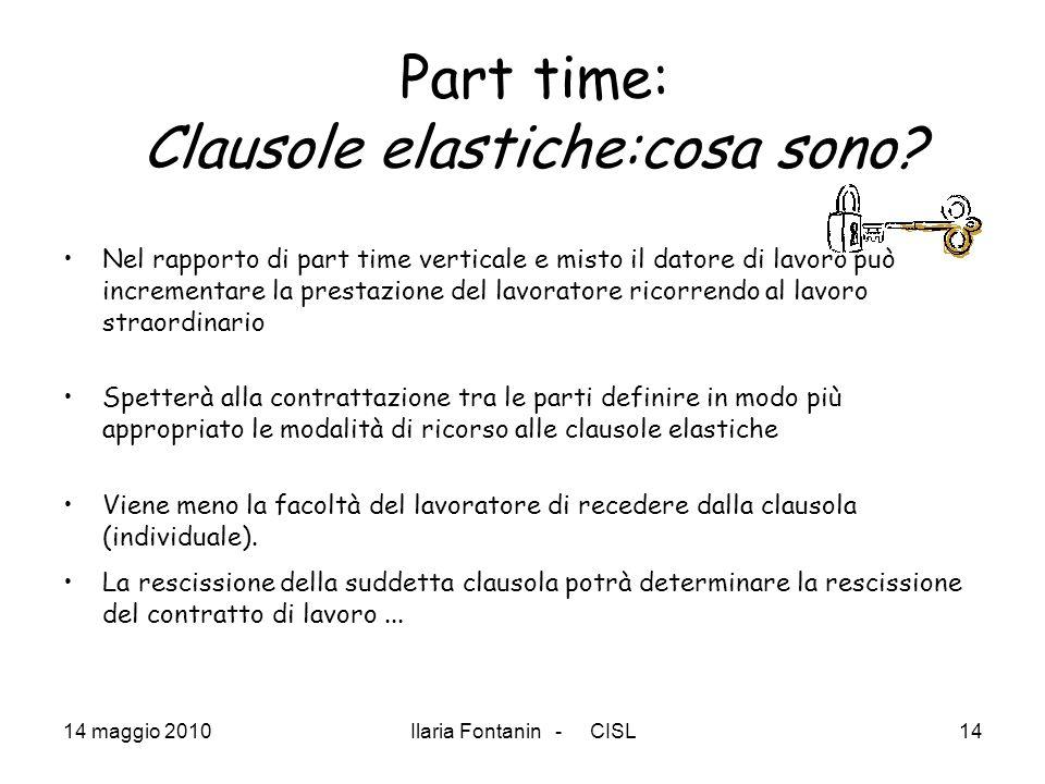 Part time: Clausole elastiche:cosa sono